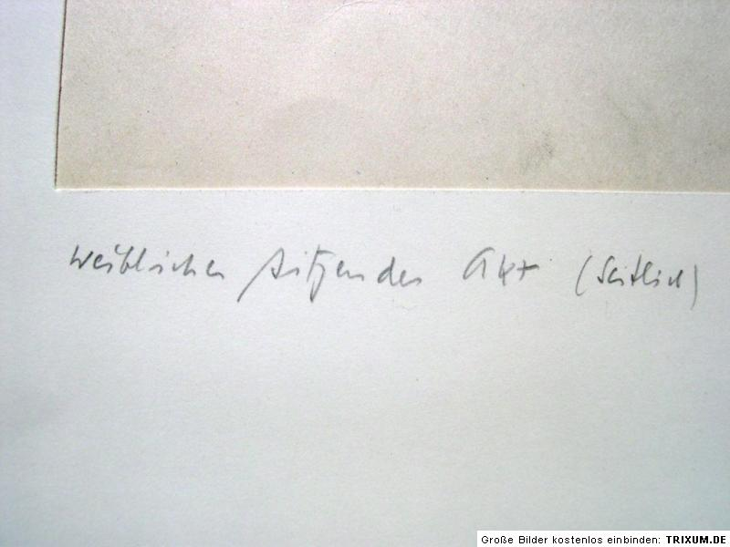 Hans häusle 1889-1944 Zurich/Pencil drawing Seated Female