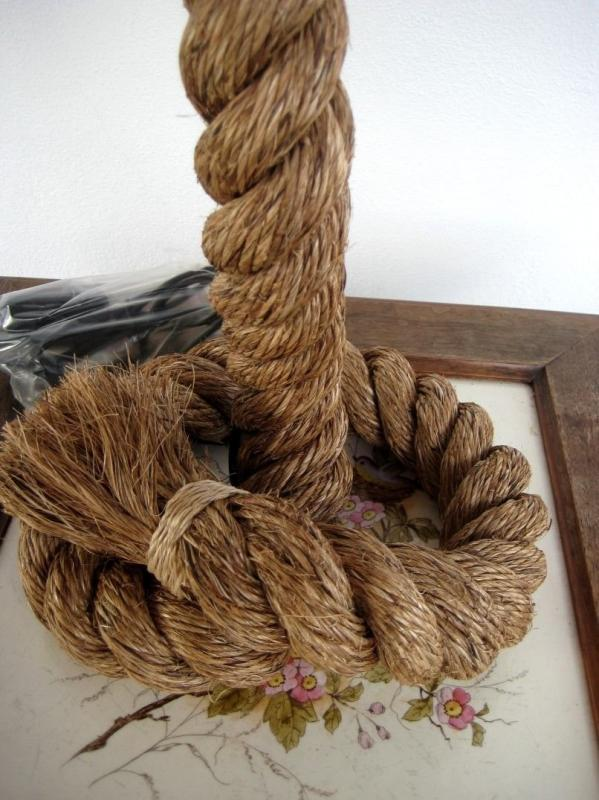 And Stoffschirm robust Maritime Table Lamp 70 Cm Twisted Hemp Modell 2 High Quality Materials