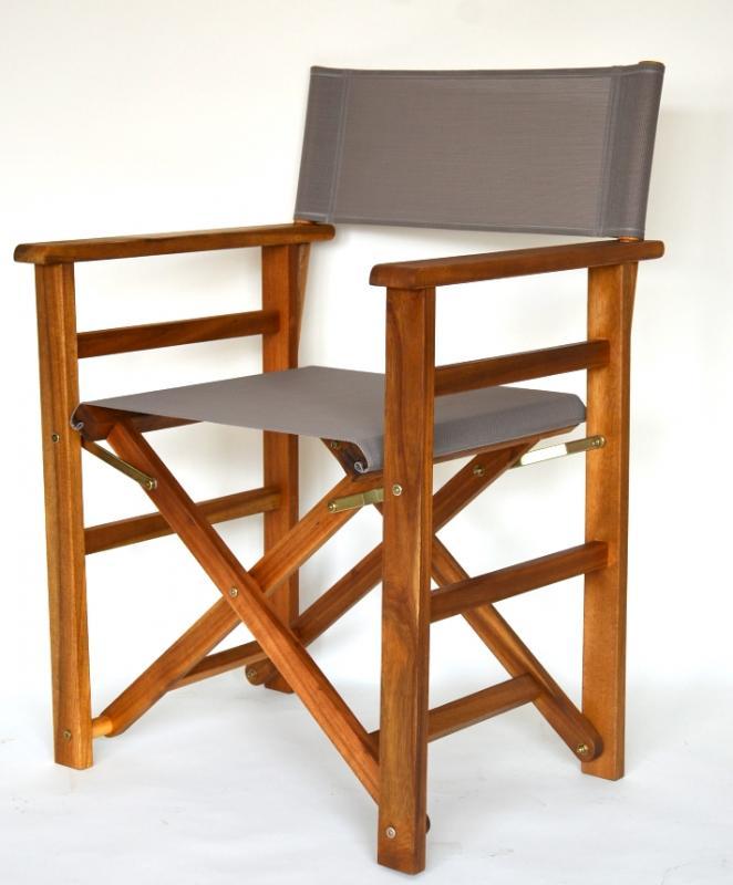 outdoor gartenstuhl regiestuhl mit durasling taupe landhaussessel sessel regie 4008420896049 ebay. Black Bedroom Furniture Sets. Home Design Ideas